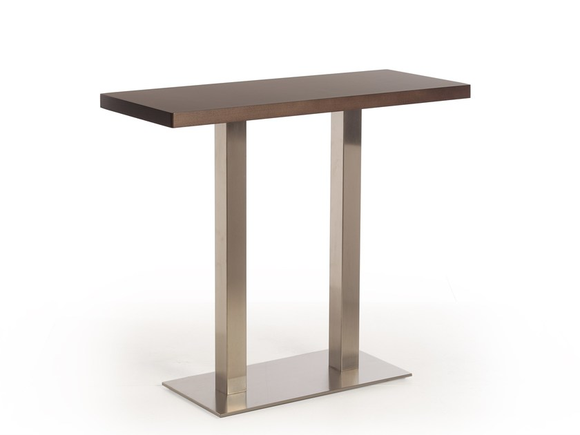 Rectangular steel and wood high table MASAI | High table by Potocco