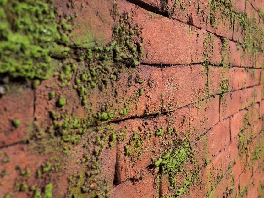Glass-fibre 3D Wall Panel with brick effect MASONRY MOSS by Artstone Panel Systems