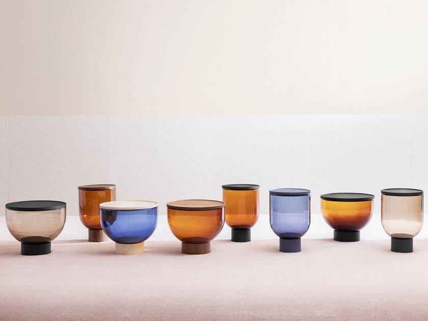 Mesa de centro redonda de vidro de Murano MASTEA by Miniforms