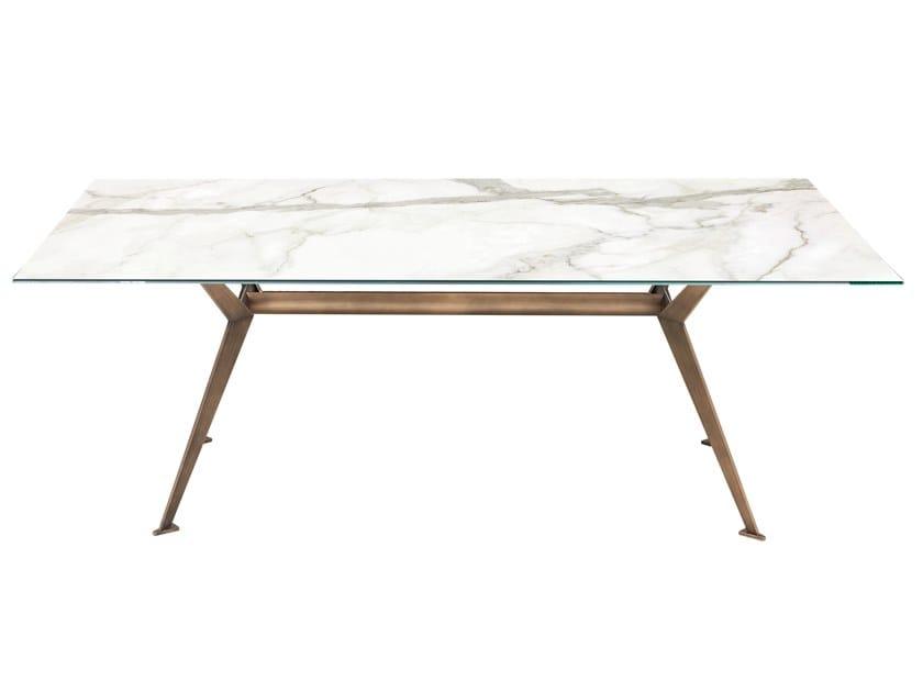 Rectangular ceramic table MASTER | Ceramic table by RIFLESSI