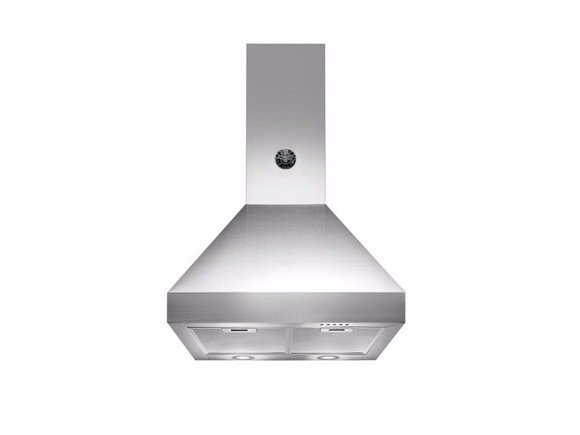 Wall-mounted cooker hood with integrated lighting MASTER - K60 AM HX A by Bertazzoni