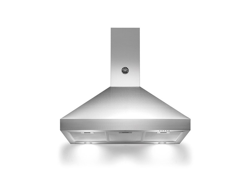 Wall-mounted stainless steel cooker hood with integrated lighting MASTER - K90 AM H by Bertazzoni