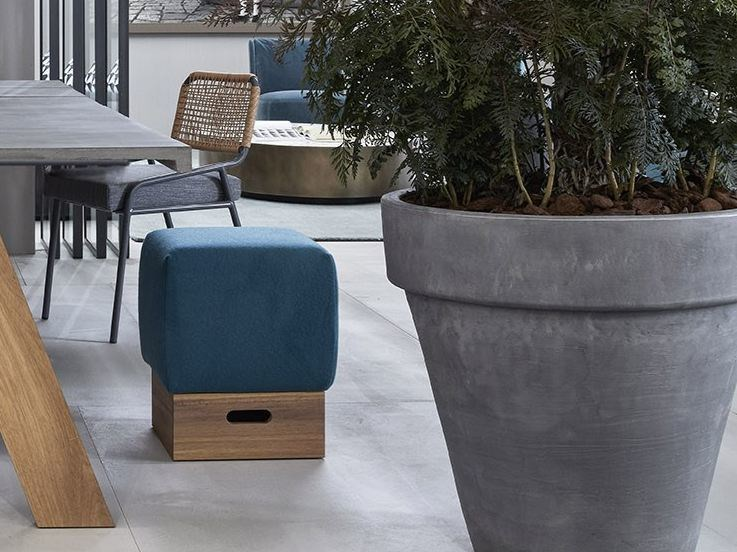 Pouf with removable lining MATCH by Meridiani