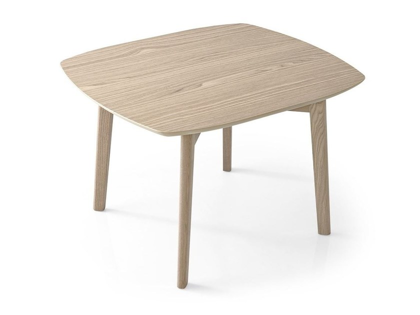 Square ash coffee table MATCH | Square coffee table by Calligaris