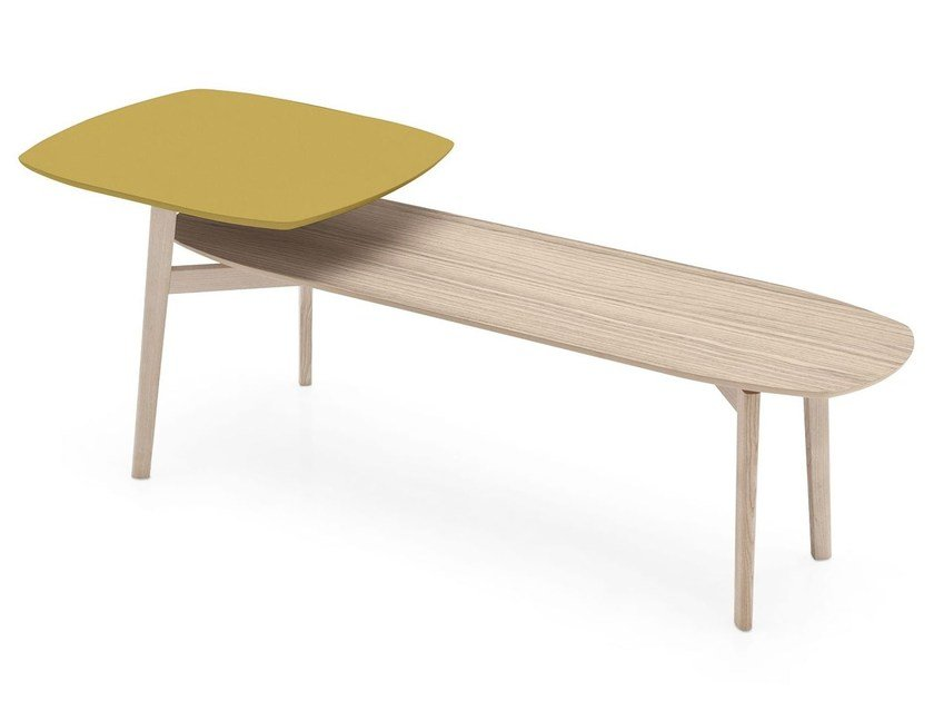 Ash coffee table for living room MATCH | Ash coffee table by Calligaris