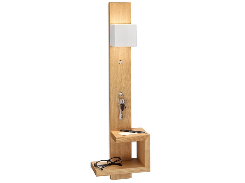 Lampada da parete / mobile da ingresso in legno MATECA | Mobile da ingresso by FERROLUCE