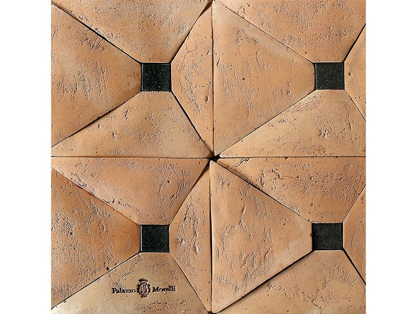 Terracotta and black granite wall/floor tiles MATELICA by Palazzo Morelli