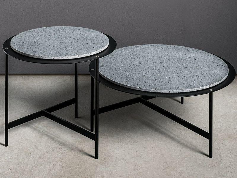 Mesa auxiliar redonda MATERIAL TABLE By MAKRO diseño Marco Taietta