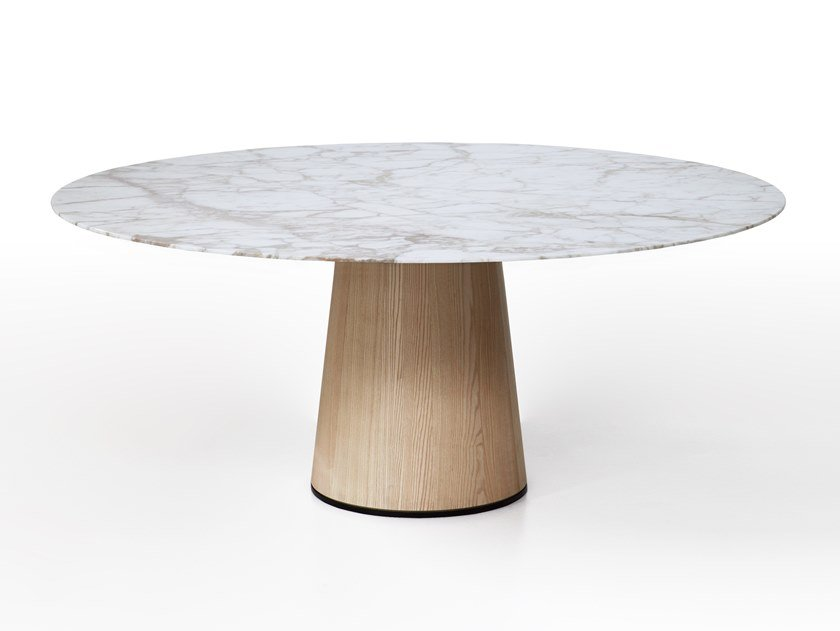 Round marble dining table MATERIC by Porro