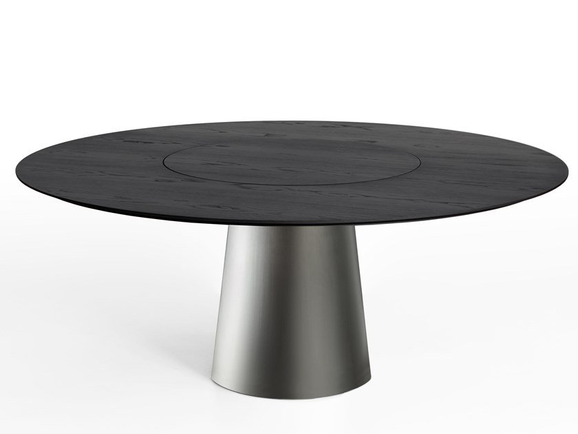 Round dining table with Lazy Susan MATERIC | Table by Porro