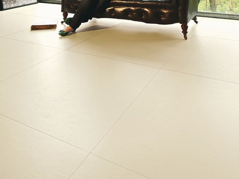 Laminated stoneware wall/floor tiles with concrete effect MATERICA - AVORIO by COTTO D'ESTE