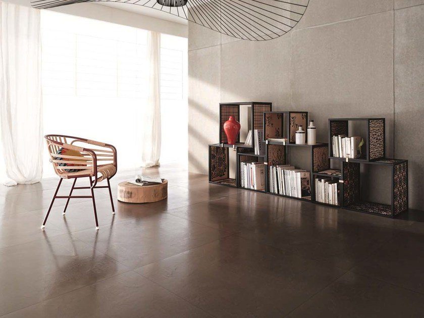 Laminated stoneware wall/floor tiles with concrete effect MATERICA by COTTO D'ESTE
