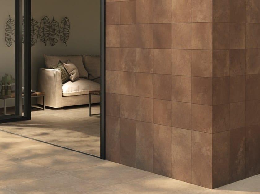 Pavimento/rivestimento in gres porcellanato effetto cemento MATERICA by Ceramiche Caesar