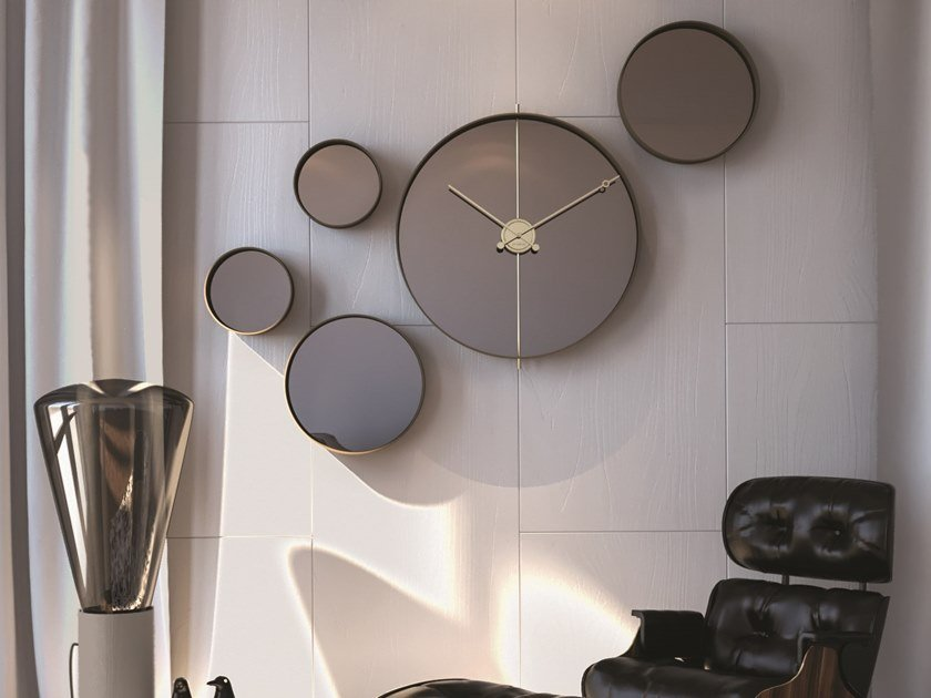 Wall-mounted marble clock MATERICO WALL by Materium
