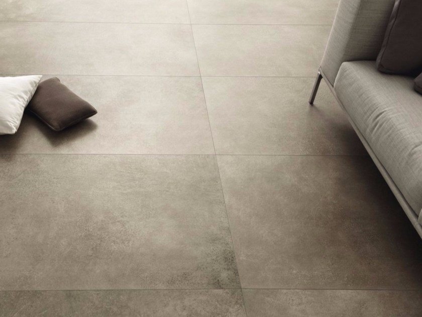 Porcelain stoneware wall/floor tiles with stone effect MATERIE HIGH TECH - FANGO by ARIOSTEA