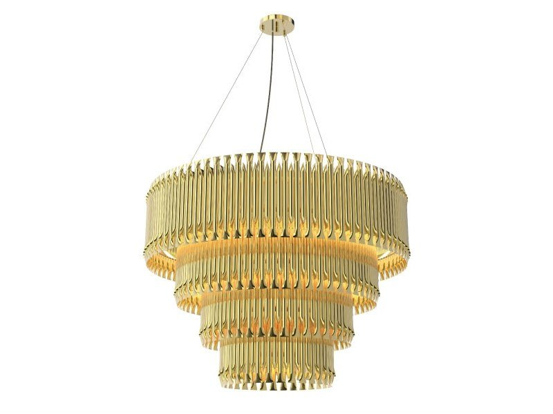 Brass pendant lamp MATHENY CHANDELIER by Delightfull