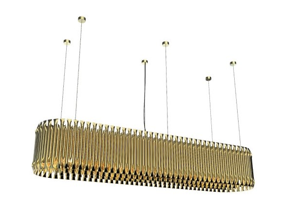 Brass pendant lamp MATHENY SNOOKER by Delightfull