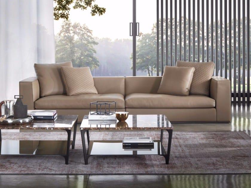 4 seater leather sofa MATHEUS | Leather sofa by Marelli