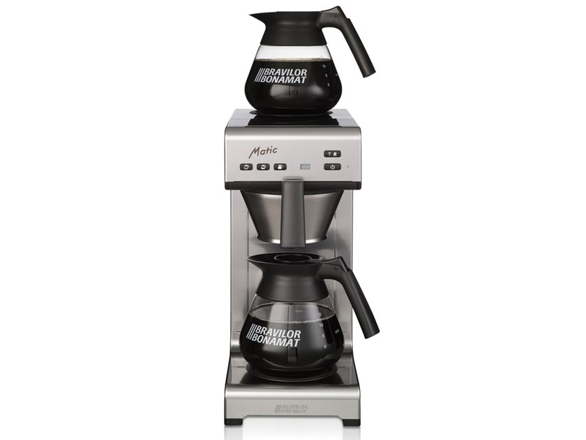 Stainless steel coffeemaker with water connection MATIC by Bravilor Bonamat
