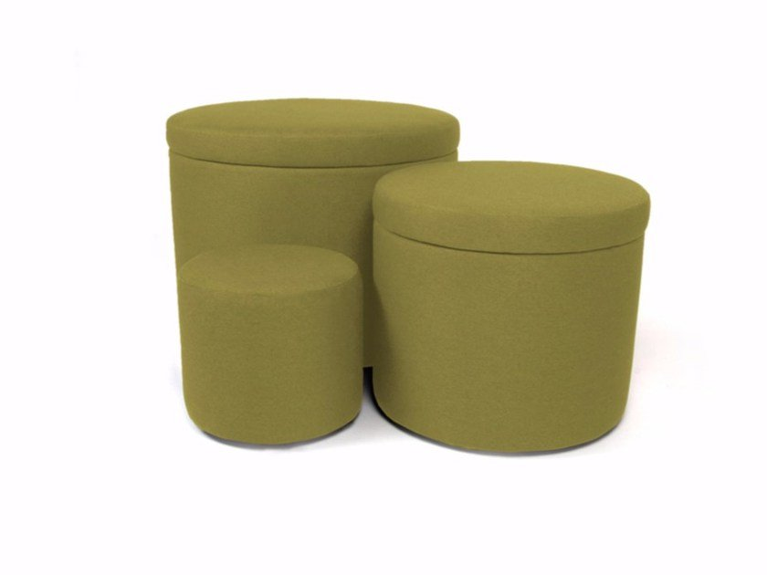 Storage round fabric pouf MATRIOSKA BOX by Arketicom Design