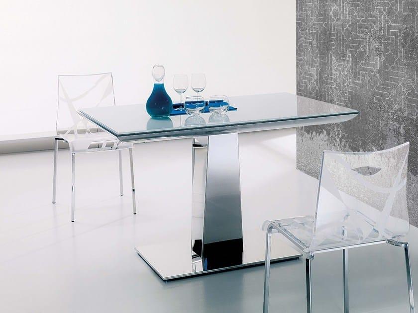 Extending dining table MATRIX by Ozzio Italia
