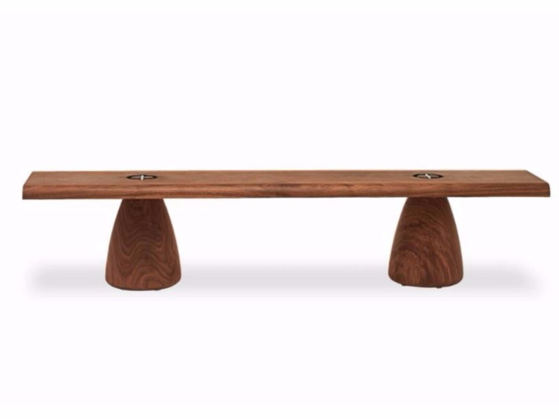 Solid wood bench MATTEO BENCH by Riva 1920