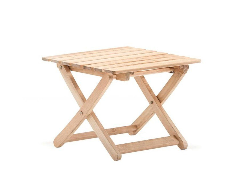 Wooden stool / coffee table MATTY IN ROBINIA by FIAM