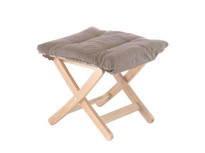 Folding wooden garden stool MATTY SOFT IN ROBINIA by FIAM