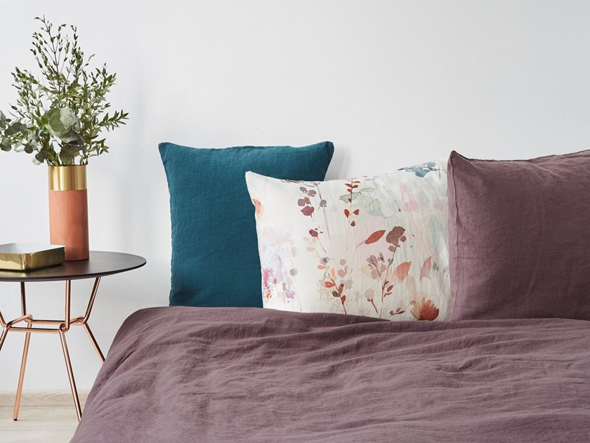 Washed linen Bed Set MAUVE | Bedding set by Linen Tales