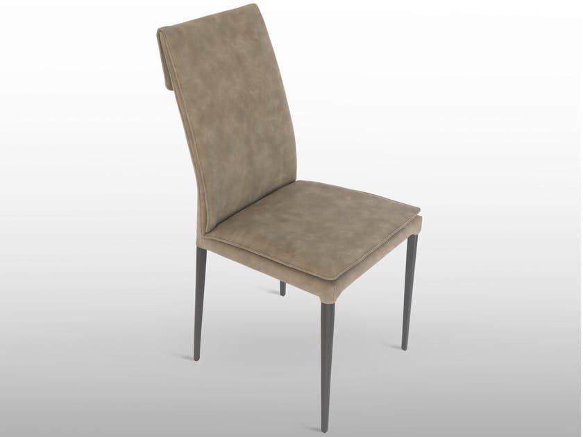 Sedia in ecopelle con schienale alto MAVI By RIFLESSI