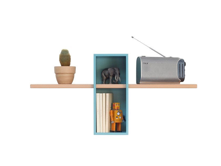 Wall-mounted sectional bookcase MAX SIMPLE by Compagnie