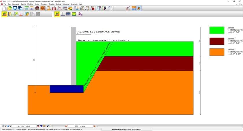 Calcolo muro di sostegno MAX LT by Aztec Informatica