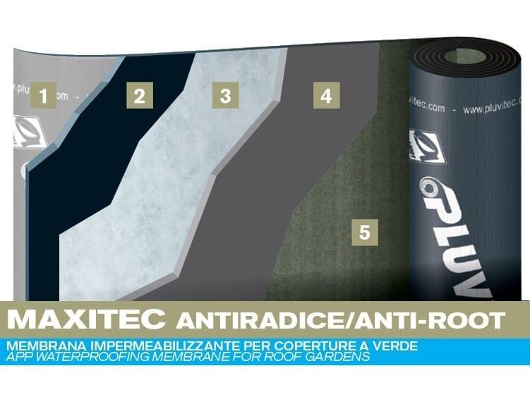 Prefabricated bituminous membrane MAXITEC ANTI-ROOT by PLUVITEC