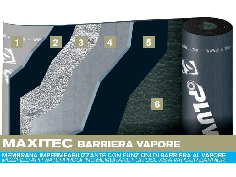 Prefabricated bituminous membrane MAXITEC VAPOUR BARRIER by PLUVITEC