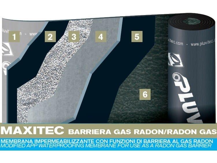 Prefabricated bituminous membrane MAXITEC GAS RADON by PLUVITEC