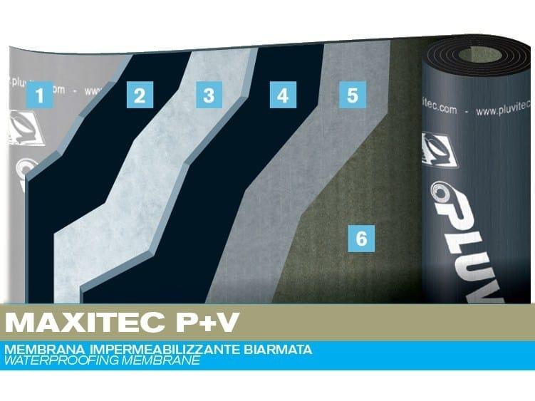 Prefabricated bituminous membrane MAXITEC P+V by PLUVITEC