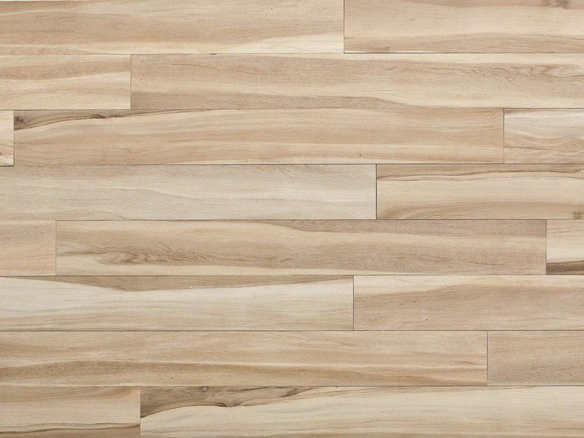 Glazed stoneware wall/floor tiles with wood effect MAXIWOOD LIVING Betulla avorio by Impronta Ceramiche