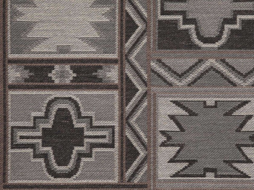 Acrylic fabric with graphic pattern MAYAN by Gancedo