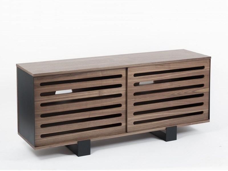 Wood veneer sideboard with sliding doors MAYET | Sideboard by Alex de Rouvray