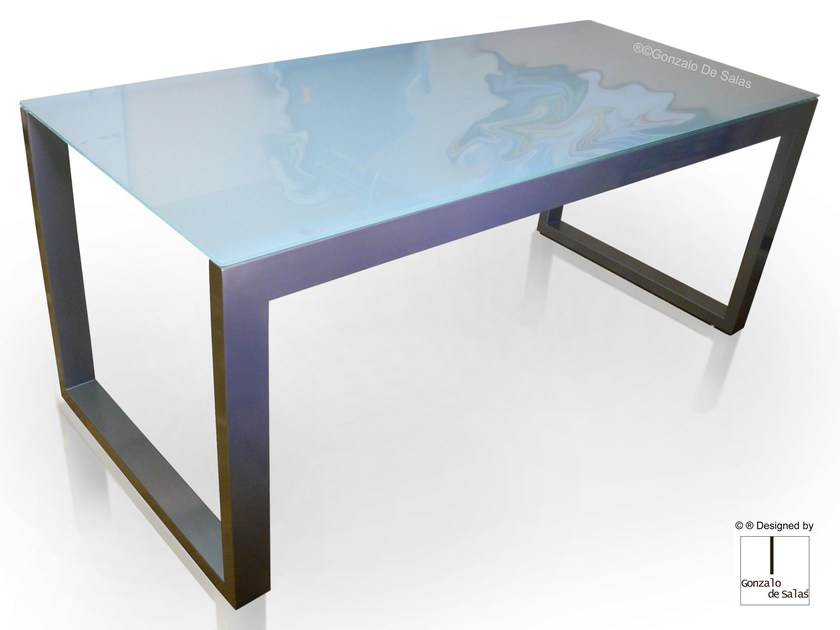 Glass table MAZA by Gonzalo De Salas