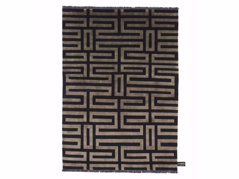 Handmade custom rug MAZE SOIE by cc-tapis