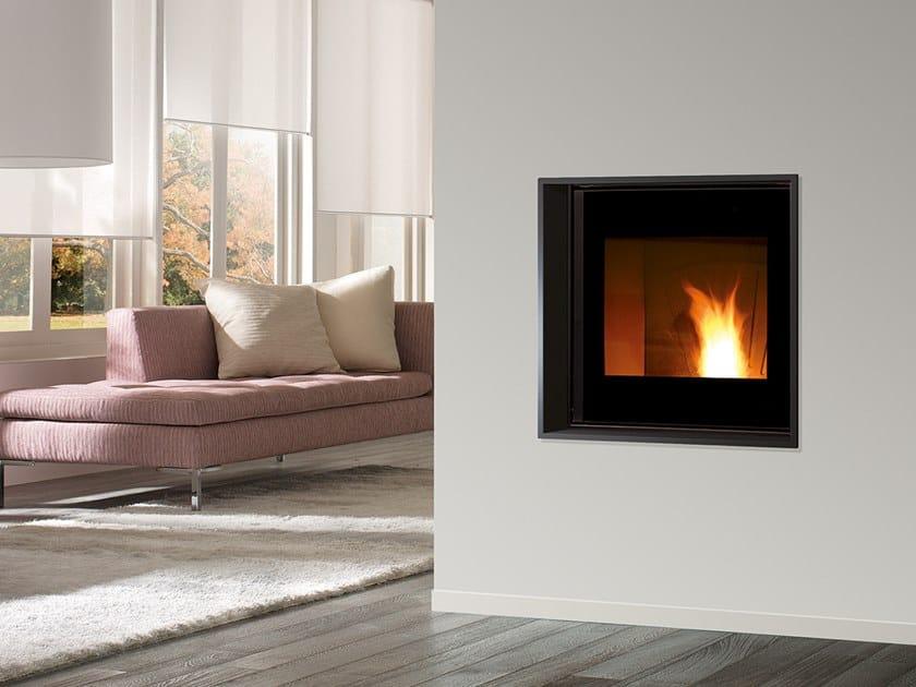 Pellet built-in steel fireplace MB PELLET EVO by CAMINETTI MONTEGRAPPA