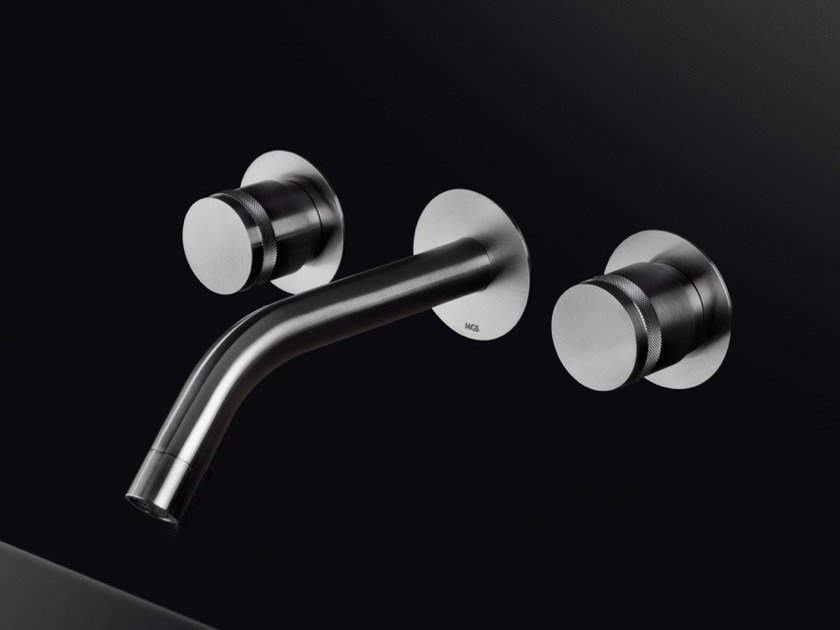 3 hole wall-mounted stainless steel washbasin tap MB287 | Washbasin tap by MGS