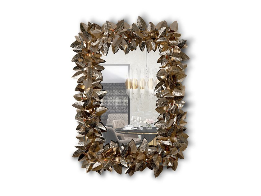 Rectangular wall-mounted mirror with Swarovski® Crystals MCQUEEN RECTANGULAR | Mirror by LUXXU