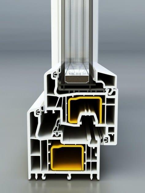 FINESTRE IN PVC NURITH serie MD/76 telaio ad L