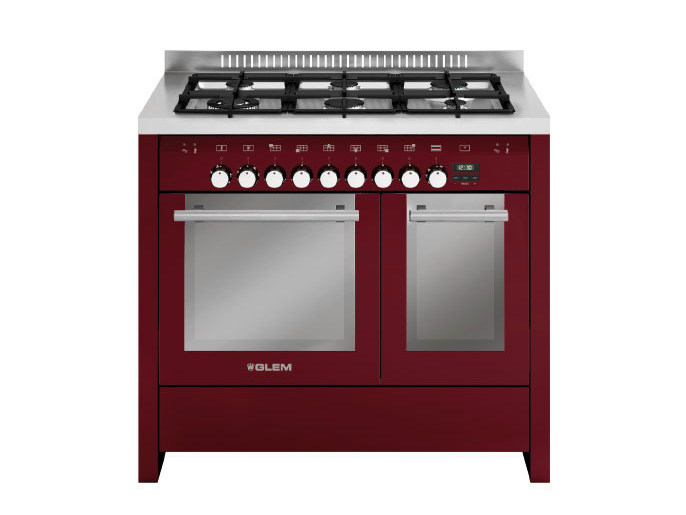 Steel cooker MD122CBR | Cooker by Glem Gas
