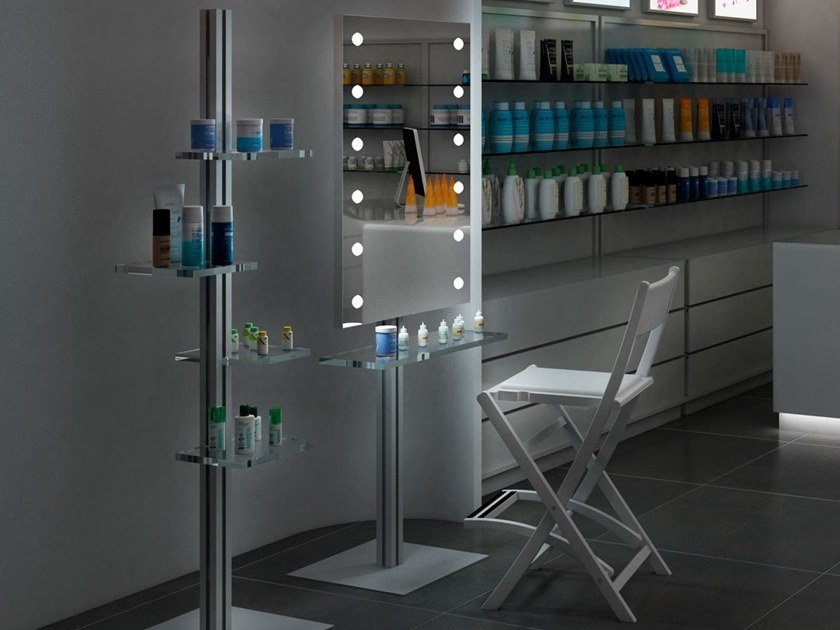 Workstation for hairdresser MDE 505-STAND ALONE by UNICA by Cantoni