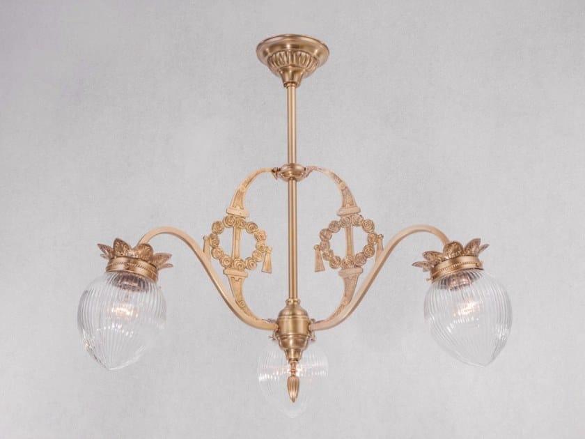Handmade brass ceiling lamp MADRID | Ceiling lamp by Patinas Lighting