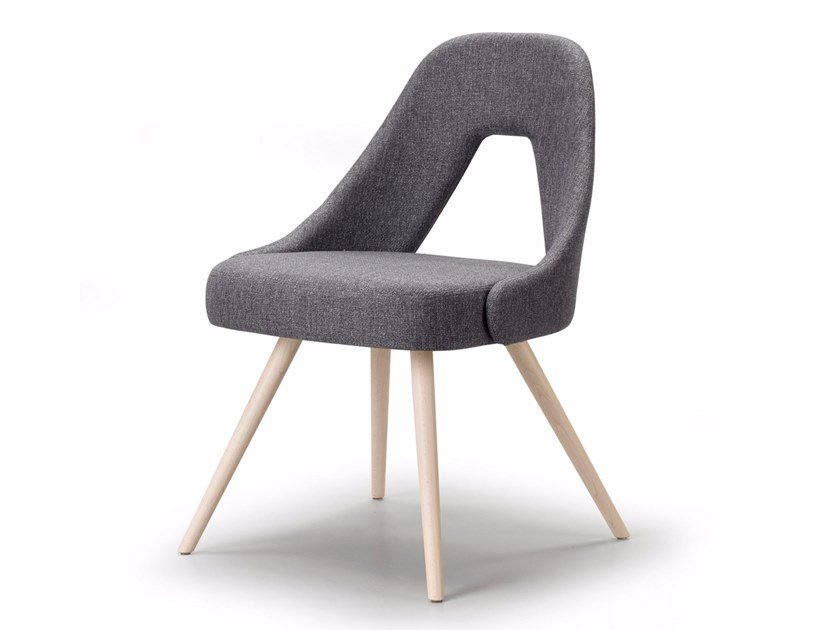 Upholstered fabric chair ME | Chair by SCAB DESIGN
