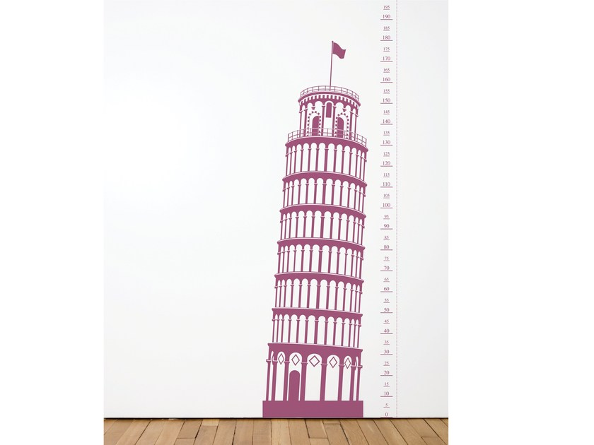 Vinyl wall sticker MEASURING SOUVENIR PISA by Moustache